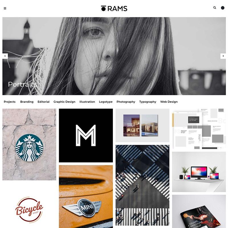RAMS - Portfolio WordPress Theme