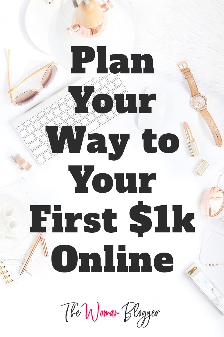 Plan Your Way to Your First $1k Online in 6 Definite Practical Steps