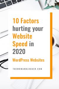 10 Factors hurting your Website Speed in 2020 | WordPress Websites