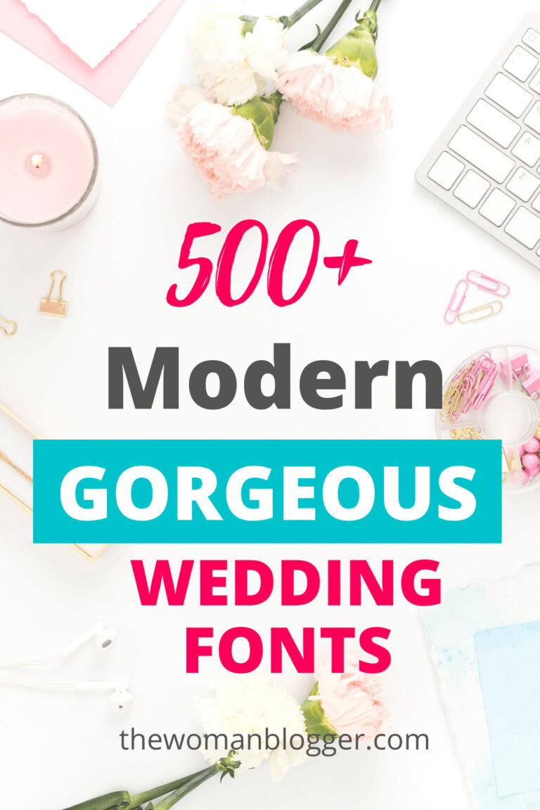 500+ Gorgeous Modern Wedding Fonts