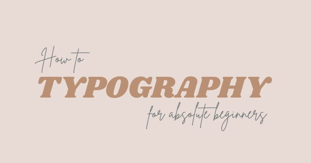 use of typography in blog featured image design