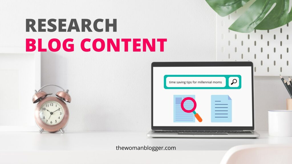 blog research content in blogging schedule