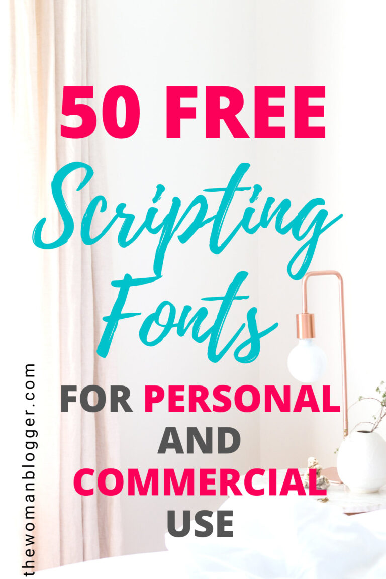 50 Free Scripting Fonts for Personal and Commercial Use